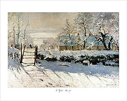 Claude Monet La Pie Impression D Art Amazon Fr Cuisine Maison