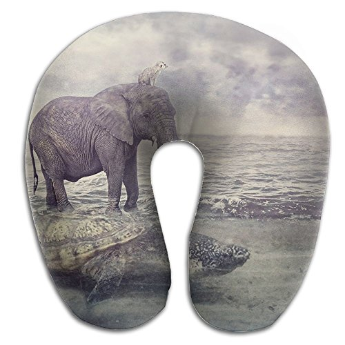 Creative Elephant Turtle Sea Creative Design Comfortable U Shaped Neck Pillow Soft Neck Support Pattern Pillow For - Elephant Design Dubai