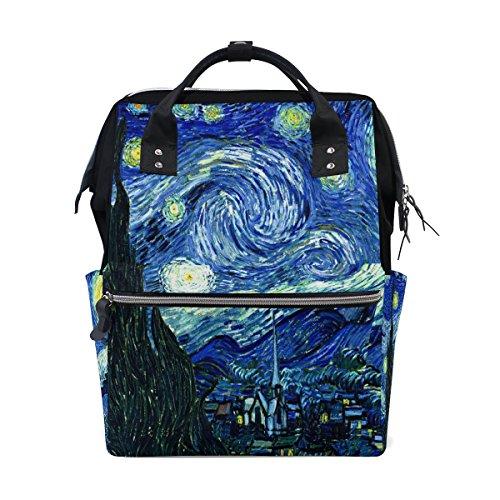 8a9224d42463 JSTEL Laptop College Bags Student Travel Van Gogh Starry Sky School  Backpack Shoulder Tote Bag