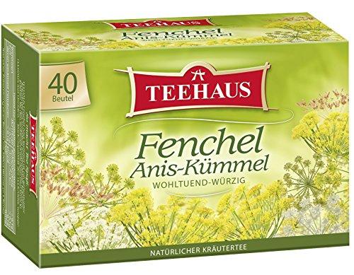 Teehaus Fenchel Anis-Kümmel (Teebeutel), 3er Pack (3 x 80 g)