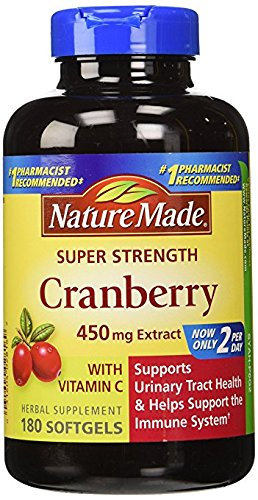 Extract Softgels (Nature Made Cranberry 450mg Extract 180 Softgels)