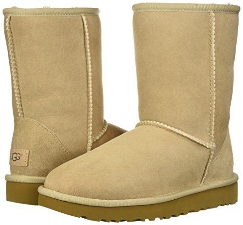 UGG Women's Classic Short II Winter Boot, Sand, 8 B US