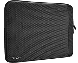 """MacBook Pro 15 Case 2017 and 2016 Release, ProCase Protective Sleeve Bag Cover with Accessory Pocket for MacBook Pro 15"""" with Touch Bar and Touch ID –Black"""