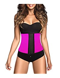 American Trends Woman Latex Waist Training Cincher Body Shaper Sport Girdle