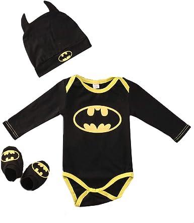Newborn Infant Baby Boys Batman Bodysuit Hooded Romper Jumpsuit Autumn Outfits Gift