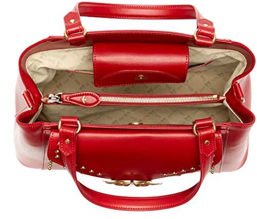 Rosso Mujer mano Avossa Handle Bolsos Pinko Vitello Top Seta de Jolly Rojo wv8dxwHq0
