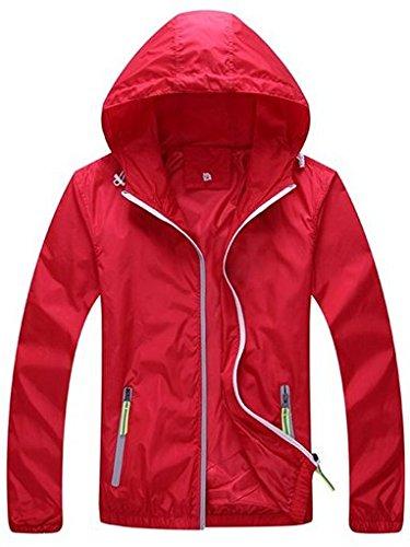 Lasher Women's Lightweight Windproof UV Protect Coat Hooded Sport Zip Up Jacket
