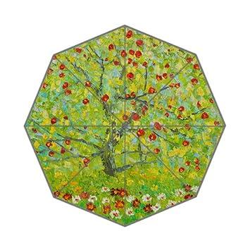 Famosas pinturas de Gustav Klimt árbol specialcasedesign paraguas plegable portátil: Amazon.es: Deportes y aire libre