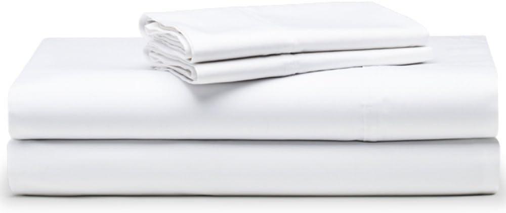 The White Basics - Colección Santorini - Juego de sabanas de satén de 300 Hilos para Cama de 135 cm: Amazon.es: Hogar