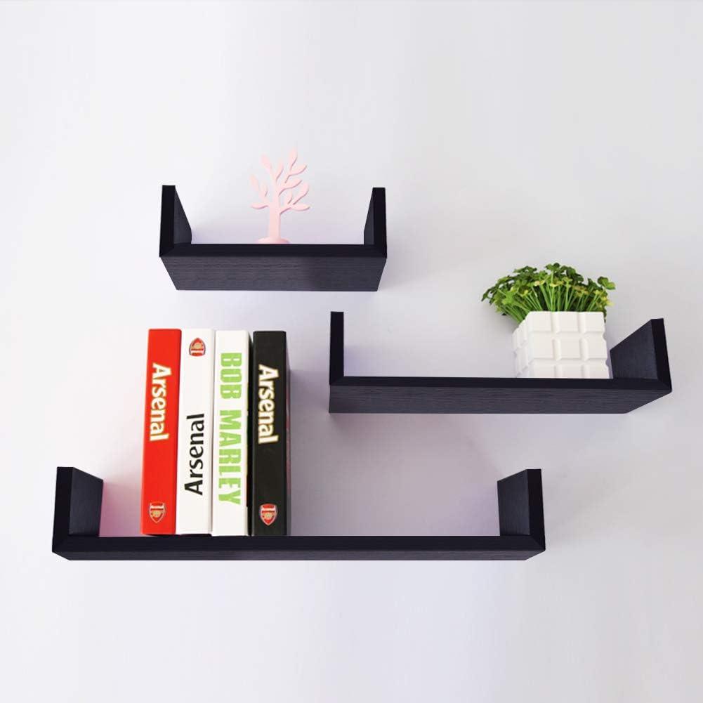Umi Essentials Floating Shelves U Shaped Wall Shelf Set Includes