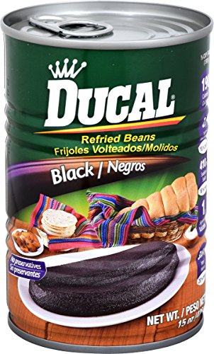 Goya Refried Beans - Goya Ducal Refried Black Beans, 15 oz