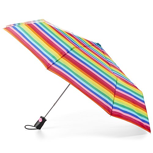 - totes Women's Sunguard One-Touch Auto Open Umbrella with Neverwet, Gradiated Stripe