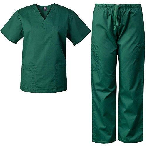 MedGear Scrubs Set Unisex Multi-Pocket Top & Pants