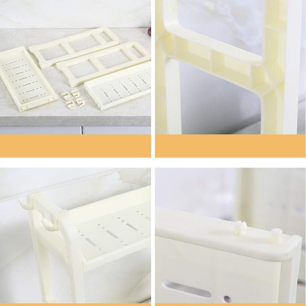 Wwweyi Multifunction Double Layer Kitchenware Storage Rack Bathroom Organizer Storage Racks