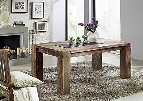Tavoli Da Pranzo In Legno Massello : Legno massello sheesham tavolo da pranzo 240x100 palissandro mobili