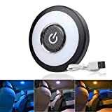 Trunk Lights - CIIHON Upgraded Rechargeable USB Car Interior Led Reading Lamps Trunk Cargo Area Light, Multi-function Stick on Anywhere Push Night Light for Car, Trunk, Closets, Cabinets,Camping (Blue/Yellow/White)
