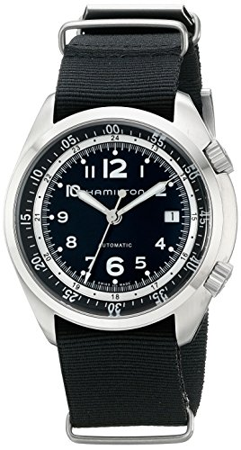 Hamilton-Mens-H76455933-Khaki-Aviation-Automatic-Stainless-Steel-Watch-with-Black-Canvas-Strap