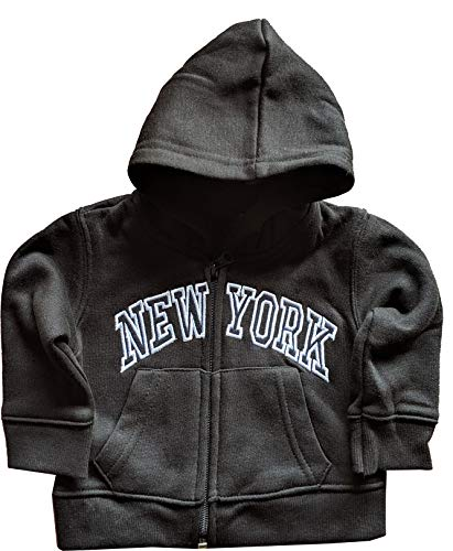 (New York City Infant Baby Zippered Hoodie Sweatshirt Black 24 Months)