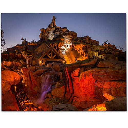 Splash Mountain Plunge - 11x14 Unframed Art Print - Makes a Great Gift Under $15 for Disney Fans
