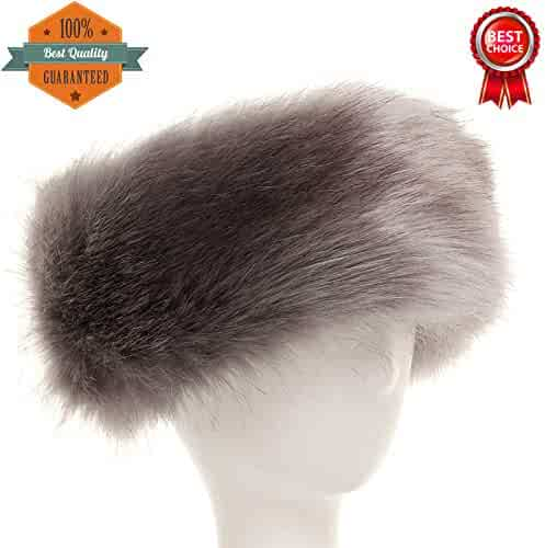 FAITH YN Womens Faux Fur Headband Winter Earwarmer Earmuff Hat Ski Caps 75489ba53e05