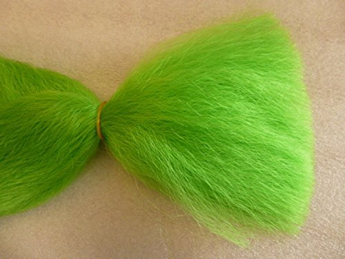 - Mermaid Green Straight Combed Doll Hair, Wig Making Hair Extension Pieces