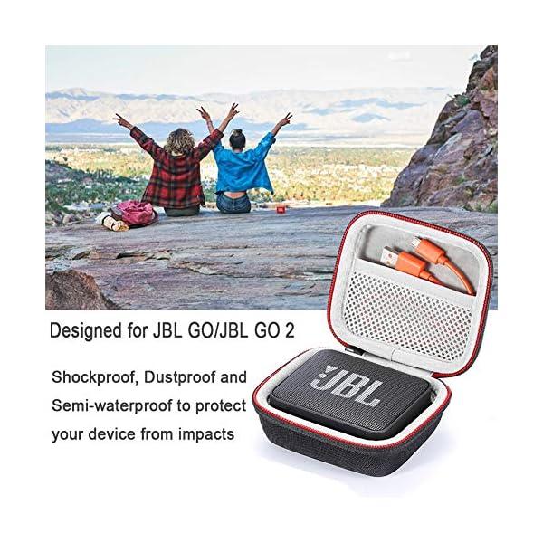 L3 Tech Etui pour JBL Go, Sacoche de Transport Rigide pour JBL GO, Haut-Parleur Bluetooth sans Fil (Boîtier Seulement, Haut-Parleur et Accessoires Non Inclus) - Rouge 5