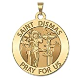 Saint Dismas Religious Medal - Available in Solid 10K And14K Yellow or White Gold, or Sterling Silver
