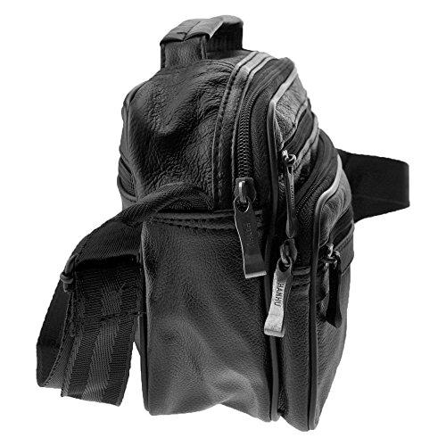 Charmoni - Bolso al hombro para hombre negro