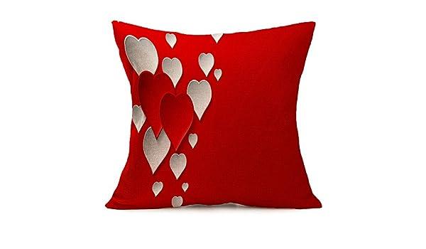 Yvelands Almohadas San Valentín Almohada romántico impresión ...