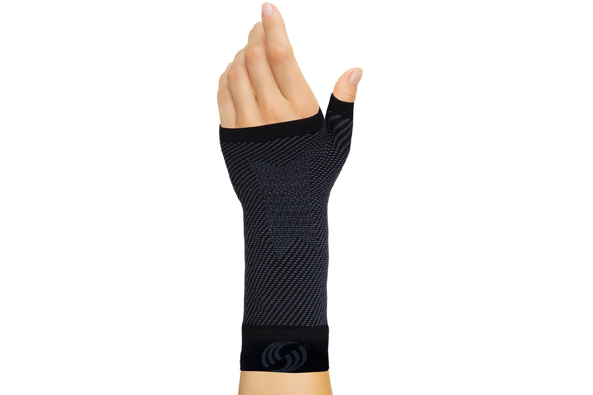 OrthoSleeve WS6 Sports Wrist Compression Sleeve (Black, Small)