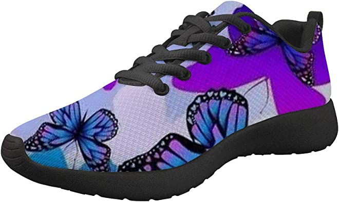 Dellukee Women Men Water Shoes Butterfly Quick Dry Aqua Barefoot for Outdoor Sports Swim Surf Beach