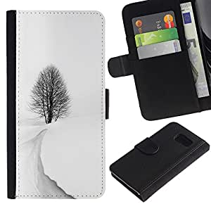 All Phone Most Case / Oferta Especial Cáscara Funda de cuero Monedero Cubierta de proteccion Caso / Wallet Case for Sony Xperia Z3 Compact // Winter Storm Snow Black White Tree Beautiful