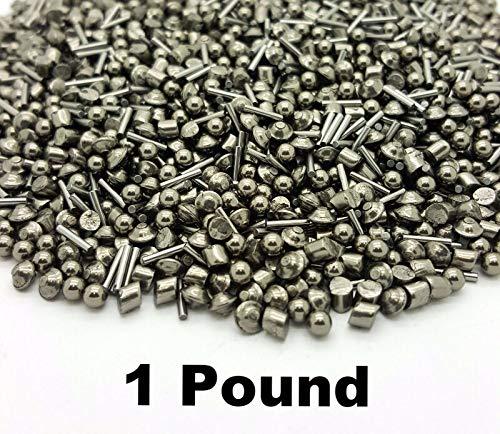 - Stainless Steel Tumbling Media Shot Jewelers Mix 4 Shapes Tumbler Finishing 1 LB