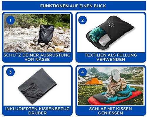 SENNS GEAR® Wasserdichter Packsack 15 Liter - Ultralight, Wasserfeste Tasche, YKK Zip, Cordura Material inkl…