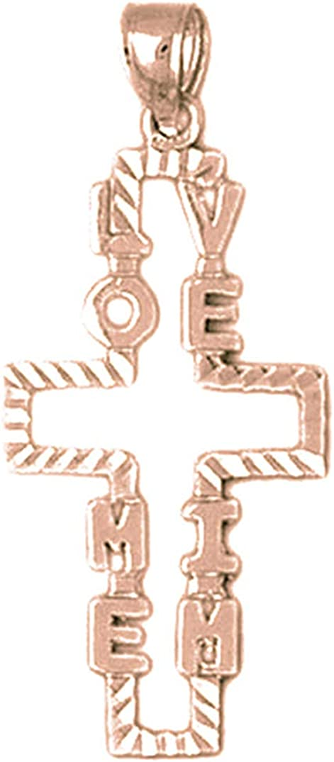 JewelsObsession Sterling Silver 37mm Crucifix Charm w//Lobster Clasp