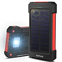 MeliTech Portable Solar Charger Waterpro...
