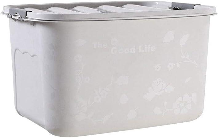 HUIQI Caja almacenaje Caja de Almacenamiento de plástico de 50-200 litros - Extra Grande - Caja de Almacenamiento - Cubierta Blanca Cajas almacenaje plastico (Size : 200L): Amazon.es: Hogar