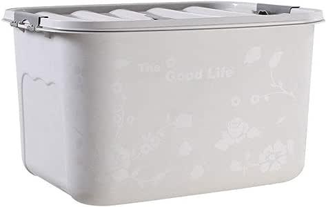 HUIQI Caja almacenaje Caja de Almacenamiento de plástico de 50-200 litros - Extra Grande - Caja de Almacenamiento - Cubierta Blanca Cajas almacenaje plastico (Size : 130L): Amazon.es: Hogar