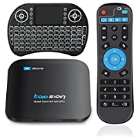 32G TV Box + Wireless Keyboard, 3G RAM 32G ROM 5.0GHz/2.4GHz Dual Band WiFi Android 6.0 Quad Core Support Bluetooth 3D 4K