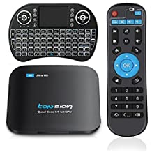 Topsion 32G TV Box + Wireless Keyboard, 3G/32G Dual Band WiFi Quad Core Android 6.0 Support Bluetooth 3D 4K