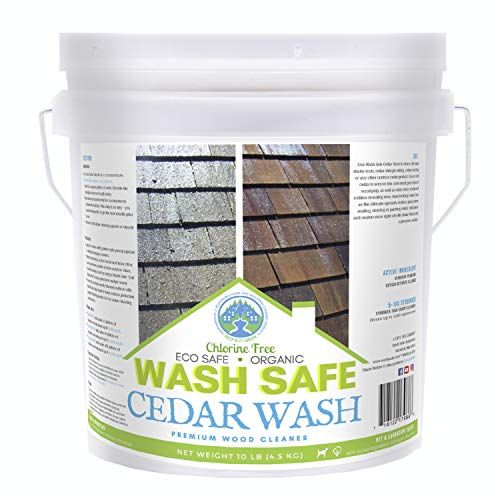 Wash Safe Industries CEDAR WASH Eco-Safe and Organic Wood Cleaner, 10 lb Container ()