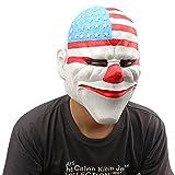Monstleo Halloween Costume Masquerade Party Latex Adult Head Flag Mask.