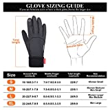 LANYI Winter Gloves Touchscreen Windproof Anti-slip Thermal Liner Gloves Running Outdoor Cycling Driving Thin Gloves for Men Women