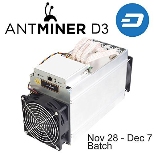 Price comparison product image Antminer D3 15GH/s X11 asic Dash miner bundle with APW3++ power supply