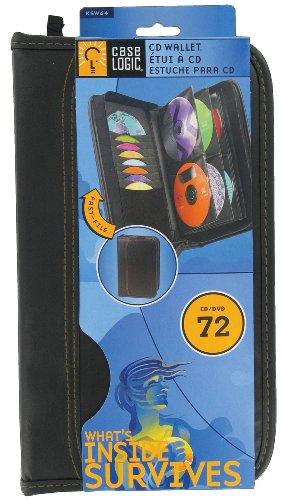 Case Logic KSW-64 Koskin 72 Capacity CD/DVD Prosleeve Wallet (Black) Koskin Media Wallet Case