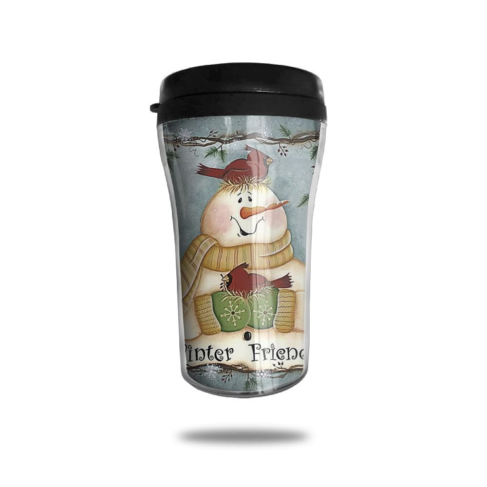 冬Friend雪だるまカップマグ8.5オンスLeakproofの断熱ポータブルコーヒーカップ両方Cold & Hot Drinks B0781NHG9G