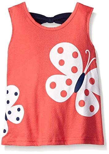 Gerber Graduates Little Girls' Toddler Sleeveless Top with Bow Back, Pink Butterflies, 5T (Kids Dress Shirt 5t)