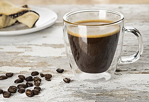 Large Product Image of JoyJolt Savor Double Wall Insulated glasses Espresso Mugs Set of 2, 5.4-Ounces