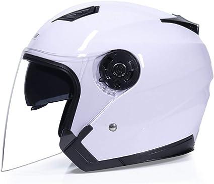Amazon.es: Casco Moto Open Face Capacete Para Motocicleta
