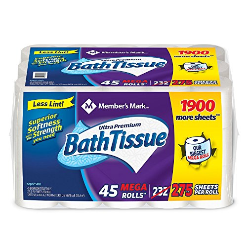Price comparison product image Product of Member's Mark Ultra Premium Bath Tissue, 2-Ply Mega Roll (275 sheets, 45 rolls) - Toilet Paper [Bulk Savings]